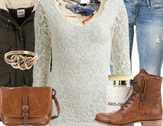 #Warm und trotzdem #stylisch - mit diesem #Winteroutfit gelingt Dir das ganz einfach! ♥ #lace #school #everyday