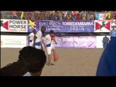Beach soccer: Nederland-Spanje/Holanda-Espana