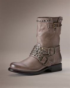 Fall Moto Boots - Jenna Studded Short - Frye