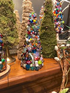 Tabletop Christmas Tree Christmas TablescapeBeaded Christmas | Etsy Bead Crafts, Diy Crafts, Tabletop Christmas Tree, Cross Art, Vintage, Holiday Decor, Etsy, Unique Jewelry, Handmade Gifts