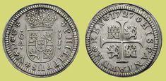 1/2 Real plata. Cuenca, 1727