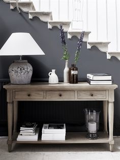 Black sofa table decor inspiration of black hallway table and best console table decor ideas on home design foyer decorating cookies with buttercream Sofa Table Decor, Entryway Console Table, Table Decorations, Hall Table Decor, Hall Tables, Entrance Hall Decor, Console Table Styling, Sideboard Table, Wooden Console Table