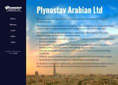 Webové stránky společnosti PLYNOSTAV ARABIAN