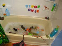 Dino bubblebath