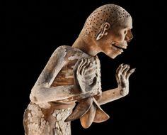 Tzitzimitl (Demon), Aztec, 1440–69, found near the Templo Mayor, Mexico City. Terracotta, stucco, and pigment.  Museo del Templo Mayor, Mexico City.jpg (500×403)