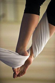 Aerial silks. Beautiful.
