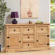 Cabinet Cupboard Rustic Sideboard Chest of Drawers Country Style Mexican Pine