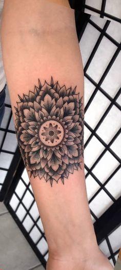 Sacred Geometric Mandala Forearm Tattoo Ideas for Women - Tats with Meaning Arm Sleeve Tat -  ideas tribales del tatuaje del antebrazo con significado - www.MyBodiArt.com
