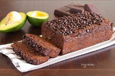 Avocado Chocolate Bread Recipe (Paleo, Gluten and Grain Free, Dairy Free) by LivingHealthyWithChocolate.com