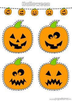 Descarga gratis dos láminas decalabazasde Halloween: – Calabazas coloreadas para imprimir. – Calabazas en blanco para colorear y recortar para niños. Puedes usarlos para hacer una guirnalda de calabazasde papel y decorar una fiesta infantil de Halloween. ¡Esto esHalloween! PASO A PASO: – Haz clic en cadaimagen para ver a tamaño completo. – Guarda la imagen en tu ordenador. – Imprime en papel o cartulina A4. – Colorea o recorta según la plantilla que elijas. – Une con uncordón…