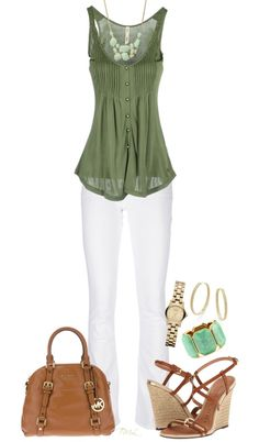 """""""Spring"""" by tmlstyle on Polyvore Finally!! A pant I can wear!! Looks very cute with those shoes! My style for sure."""