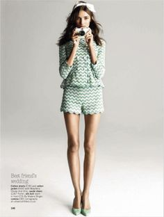 yes, you can wear shorts...: daniela mirzac by walter chin for glamour uk may...
