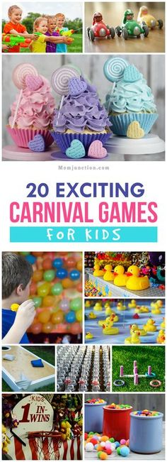 20 Exciting Carnival Games For Kids: Here is a list of games that will get you started towards creating an exciting carnival for the little guests.