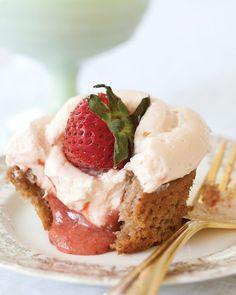 Strawberry Cupcakes - Five Strawberry Recipes for Spring - www.southernladymagazine.com