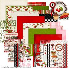 Cherry On Top Collection Biggie, designed by Ginny Whitcomb, Scrap Girls, LLC digital scrapbooking product designer