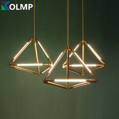 Post modern Geometry Rhombus Shape Diamond G5 Base tube chandelier lighting Brass Color Housing Hanging Light Fixture 6 arms -in Pendant Lights from Lights & Lighting on Aliexpress.com | Alibaba Group