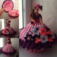 Sewing Doll Clothes, Sewing Dolls, Barbie Clothes, Crochet Barbie Patterns, Doll Patterns, Barbie Gowns, Barbie Dress, Quinceanera Themes, Indian Dolls