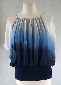 Beautiful blue ombre COAST silk top double layered 12 Blue Ombre, Silk Top, Layers, Coast, Stuff To Buy, Beautiful, Layering