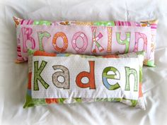 Personalized Name Pillows ://.theribbonretreat.com/blog/personalized & Personalized Name Pillows by Kimberbell | Machine Embroidery ... pillowsntoast.com