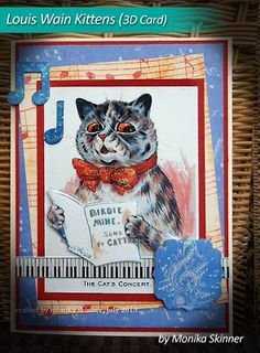 For Cattos, I did some decoupage.