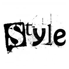 my style image detail for the word style written in grunge cutout
