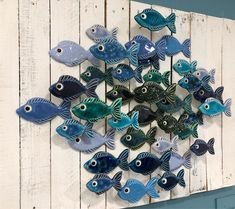 Schools maybe out for the holidays but this Schoolings just arrived in our Market Shop 🐠🐟 🐟 🐠 Clay Art Projects, Ceramics Projects, Clay Crafts, Arts And Crafts, Ceramic Pottery, Ceramic Art, Clay Fish, Paper Mache Clay, Fish Sculpture