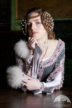Custom Renaissance Dress Lady Rowena velvet gown by armstreet