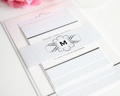 Silver Embossed Swirl Pocket Fold Wedding Invitations. Sets Of 10 |  Pinterest | Emboss, Elegant Wedding Invitatu2026