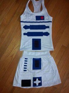 droid running costume by This Princess Runs… Disney Races, Disney Star Wars, Disney 5k, Run Disney Costumes, Running Costumes, Costumes Starting With R, Super Hero Costumes, Cool Costumes, Disney Running Outfits
