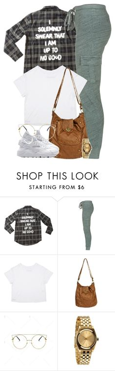 """I solemnly swear that I am up to no good."" by cheerstostyle ❤ liked on Polyvore featuring Splendid, Wet Seal, NIKE and Nixon"