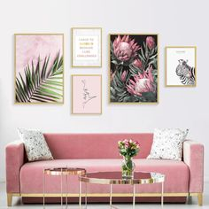 Abstract Nordic Wall Art Prints Geometric Patterns Colorful Contemporary Canvas Posters For Modern Office Interiors and Stylish Home Decor Living Room Pictures, Wall Art Pictures, Pink Wall Art, Wall Art Decor, Framed Wall Art, Green Wall Decor, Pink Art, Living Room Decor, Bedroom Decor