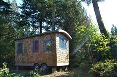 Hornby Island Caravans, exterior of the Little Tribune