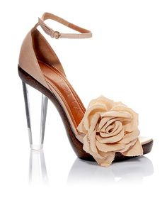 mugnai shoes with lovely lucite heel