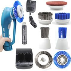 Cordless Power Scrubber Electric Household Bathroom Kitchen Tool Brushes Battery #CUH