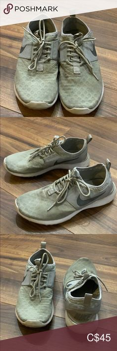 Shop Women's Nike Gray White size Athletic Shoes at a discounted price at Poshmark.