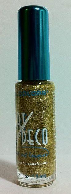 La colors art deco limon nail polish make up hair nails la colors art deco gold glitter nail polish prinsesfo Gallery