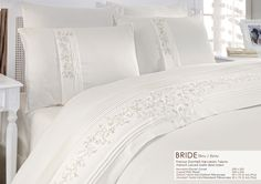 Duvet Bedding, Bedding Sets, All White, Bed Covers, Bed Sheets, Boudoir, Comforters, Embroidery Designs, Master Bedroom