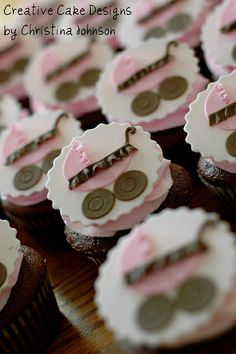 Baby Carriage Cupcakes by Creative Cake Designs (Christina), via Flickr
