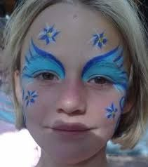 Image result for blue face painting