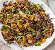 Spicy Cajun Chicken Quinoa Recipe - Tried hot, then ate leftovers cold the next day. Both were good.