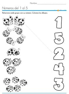 ladybug counting number worksheets | Crafts and Worksheets for Preschool,Toddler and Kindergarten