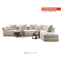 #FLEXFORM ZENO sectional sofa #design Antonio Citterio