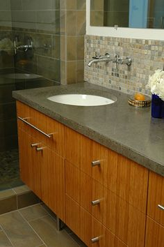 Custom Bathroom Vanities Nh plyboo bamboo bathroom vanity for a toronto home. | kitchen and