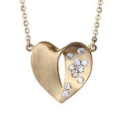 Whitney Stern Diamond Heart Necklace 14K :: Ben Bridge Jeweler