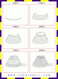 how to draw a hanging rope
