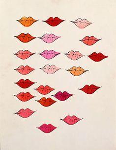 Andy Warhol, Lips 1950s