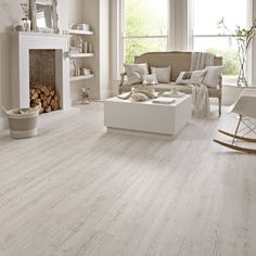 White wash luxury vinyl planks that scream GLAMOROUS!
