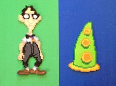 Decorate your home with these awesome Day of the Tentacle bead sprites. They will make an incredibly unique addition to your home! Choose from all your favorite characters, and get a $15 discount if you purchase all 6!! These would look great on any gamers shelf or wall. Measurements: They measure approximately: Green Tentacle - 6 wide x 10 high Purple Tentacle- 6 wide x 9.5 high Bernard - 5.5 wide x 13.5 high Laverne - 8 wide x 15 high Hoagie - 11 wide x 12 high Dr. Fred - 5.5 wide x 11.5…