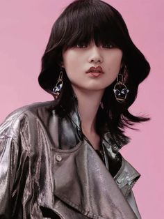 I feminine glam rock photo shoot with model Cong He for the December 2015 issue of Vogue China, photographed by Liu song. See the series below:  Magazine: Vogue China December 2015 Model: Con…