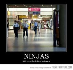 Dump A Day ninjas, mall cop, funny - Dump A Day Mall cops don't stand a chance ! Funny Cute, The Funny, Freaking Hilarious, When U See It, Funny Pins, Funny Stuff, Laughing So Hard, Just For Laughs, Cops